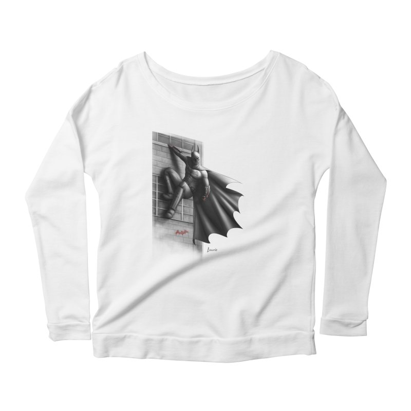Batman - 50 Shades of Arkham Women's Scoop Neck Longsleeve T-Shirt by Laurie's Artist Shop
