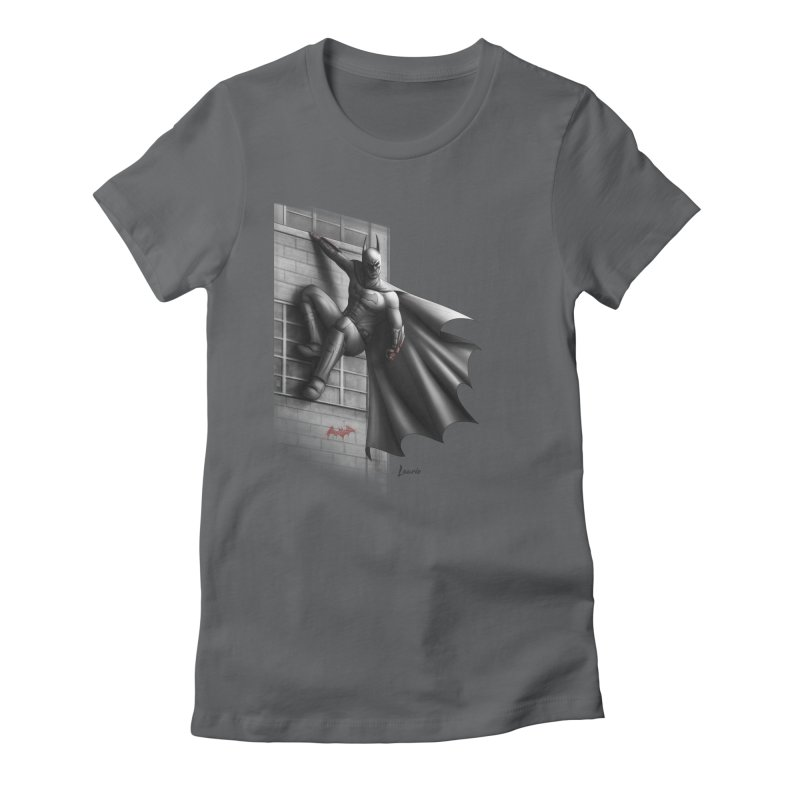 Batman - 50 Shades of Arkham Women's Fitted T-Shirt by Laurie's Artist Shop