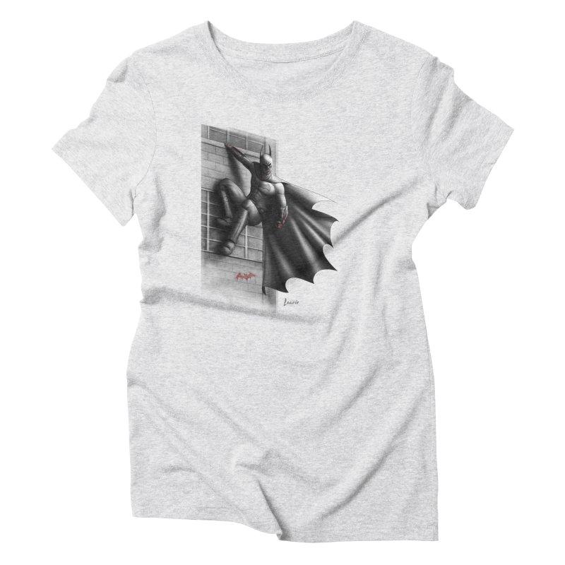 Batman - 50 Shades of Arkham Women's Triblend T-Shirt by Laurie's Artist Shop