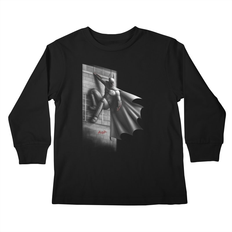 50 Shades of Arkham Kids Longsleeve T-Shirt by Laurie's Artist Shop