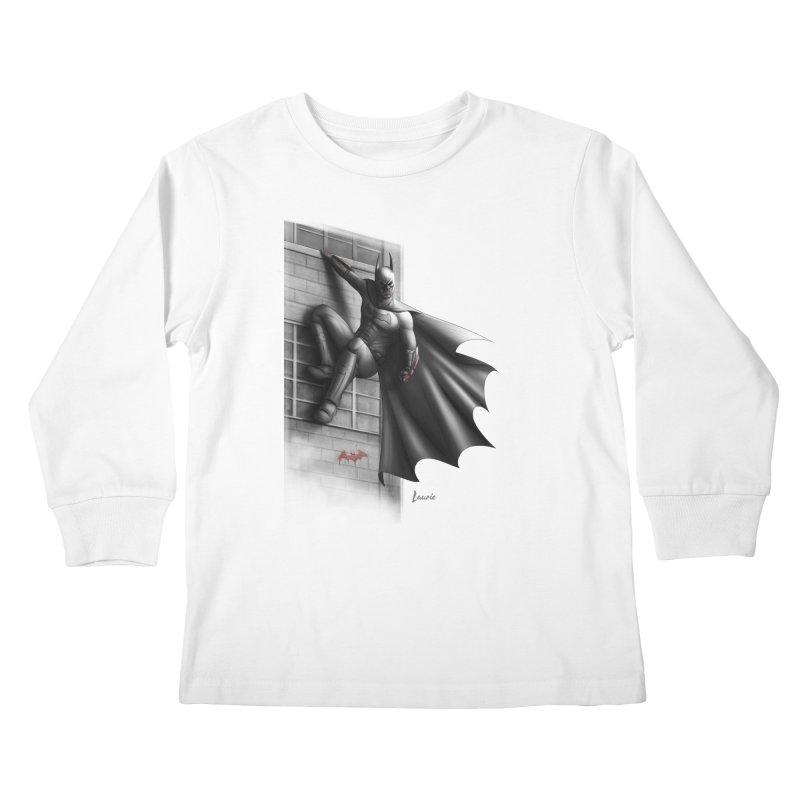 Batman - 50 Shades of Arkham Kids Longsleeve T-Shirt by Laurie's Artist Shop