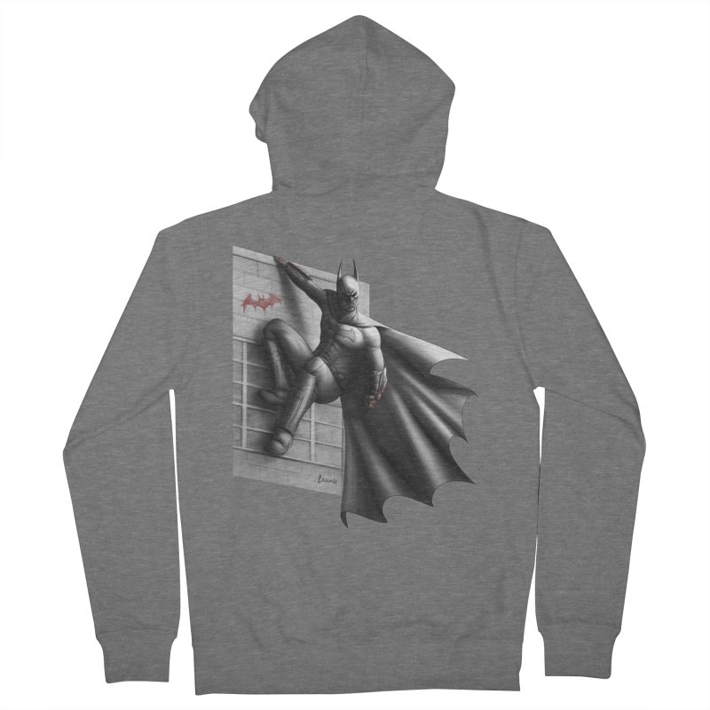 Batman - 50 Shades of Arkham Women's French Terry Zip-Up Hoody by Laurie's Artist Shop