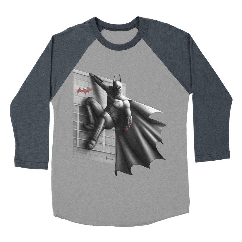 Batman - 50 Shades of Arkham Women's Baseball Triblend Longsleeve T-Shirt by Laurie's Artist Shop