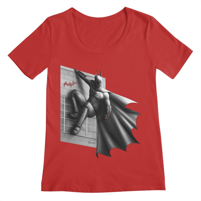 Batman - 50 Shades of Arkham Women's Regular Scoop Neck by Laurie's Artist Shop