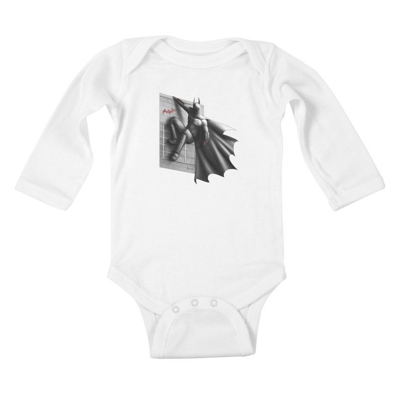 Batman - 50 Shades of Arkham Kids Baby Longsleeve Bodysuit by Laurie's Artist Shop