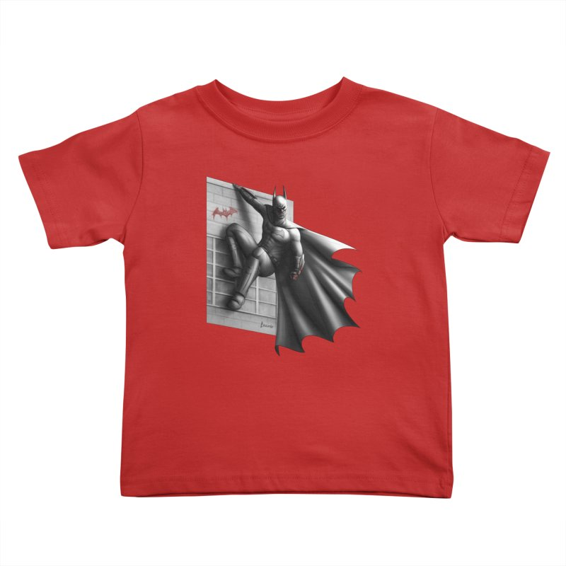 Batman - 50 Shades of Arkham Kids Toddler T-Shirt by Laurie's Artist Shop