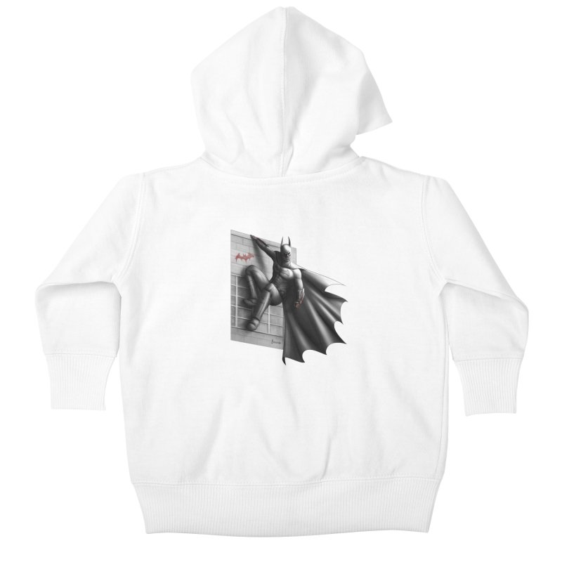 Batman - 50 Shades of Arkham Kids Baby Zip-Up Hoody by Laurie's Artist Shop