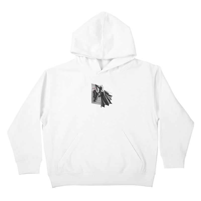 Batman - 50 Shades of Arkham Kids Pullover Hoody by Laurie's Artist Shop