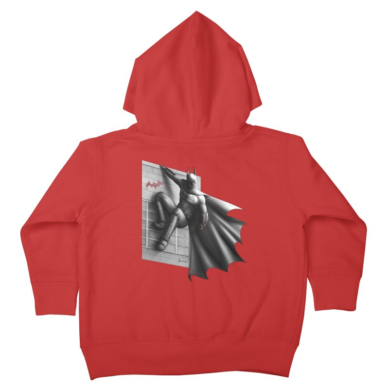 Batman - 50 Shades of Arkham Kids Toddler Zip-Up Hoody by Laurie's Artist Shop