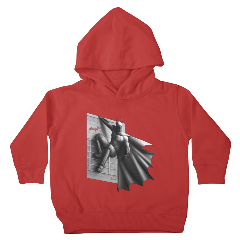 Batman - 50 Shades of Arkham Kids Toddler Pullover Hoody by Laurie's Artist Shop