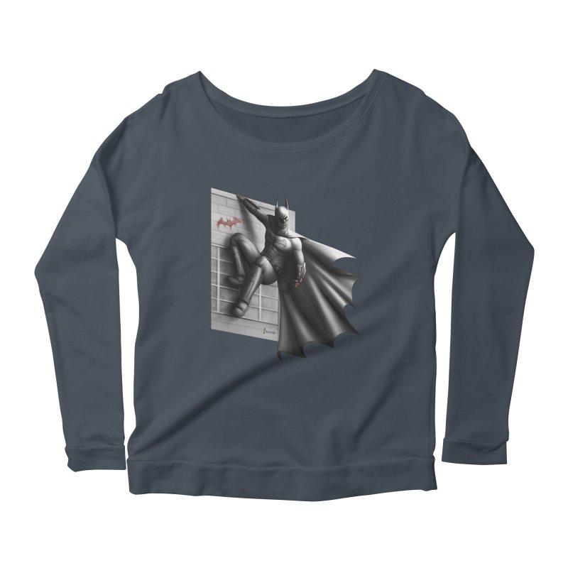 Batman - 50 Shades of Arkham Women's Scoop Neck Longsleeve T-Shirt by Laurie's Artist Shop