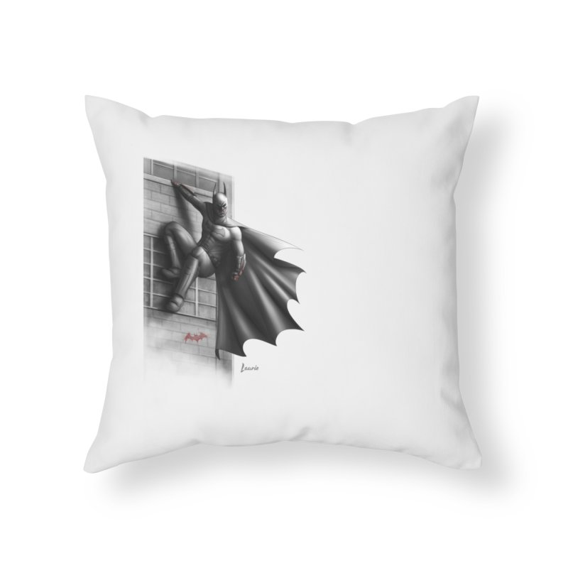 Batman - 50 Shades of Arkham Home Throw Pillow by Laurie's Artist Shop