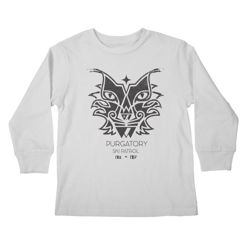 Purgatory Patrol Lynx Kids Longsleeve T-Shirt by lauriecullumdesign's Artist Shop