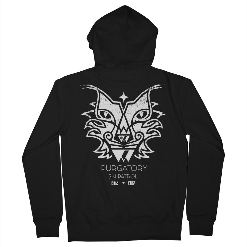 white Lynx Purgatory Patrol Men's Zip-Up Hoody by lauriecullumdesign's Artist Shop