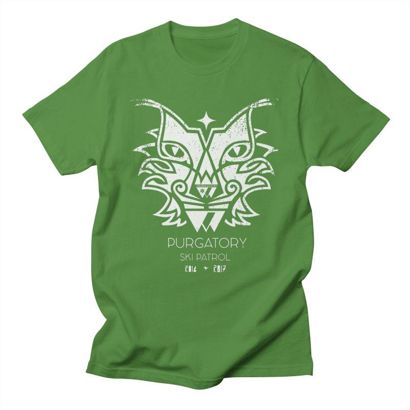 white Lynx Purgatory Patrol Men's T-shirt by lauriecullumdesign's Artist Shop