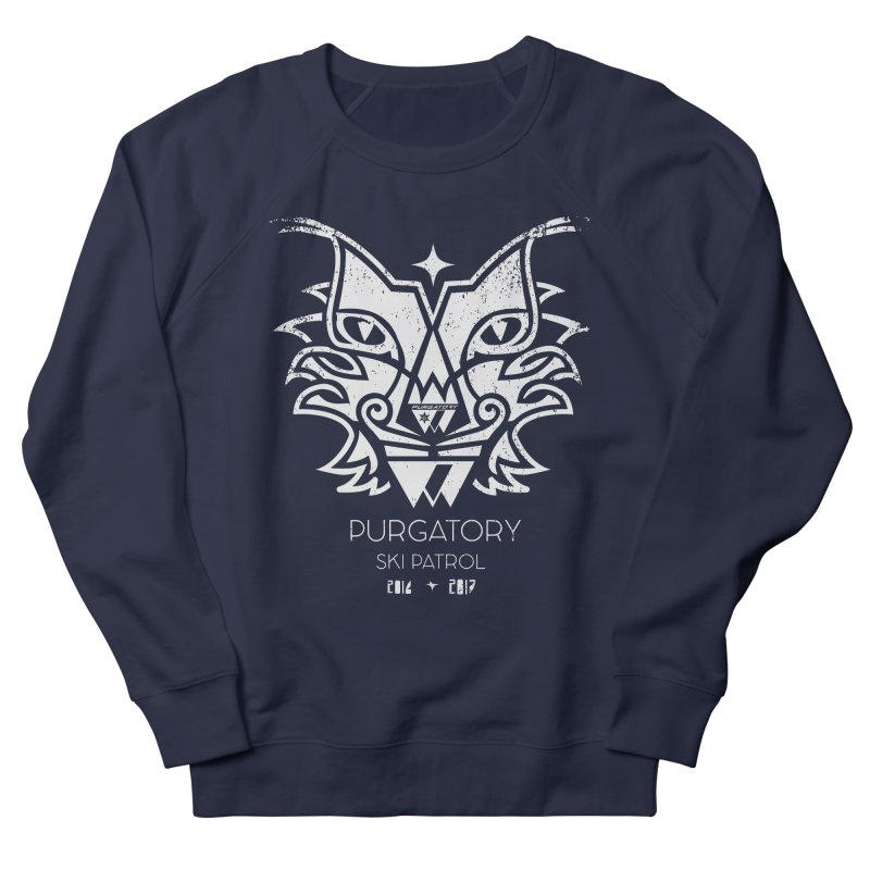 white Lynx Purgatory Patrol Men's Sweatshirt by lauriecullumdesign's Artist Shop