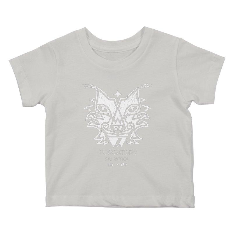 white Lynx Purgatory Patrol Kids Baby T-Shirt by lauriecullumdesign's Artist Shop