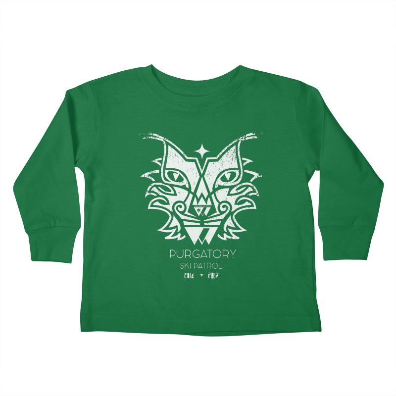 white Lynx Purgatory Patrol Kids Toddler Longsleeve T-Shirt by lauriecullumdesign's Artist Shop