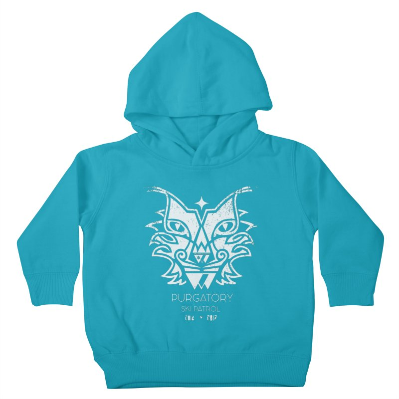 white Lynx Purgatory Patrol Kids Toddler Pullover Hoody by lauriecullumdesign's Artist Shop