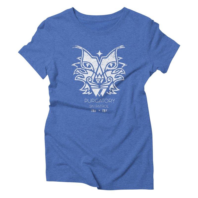 white Lynx Purgatory Patrol Women's Triblend T-shirt by lauriecullumdesign's Artist Shop
