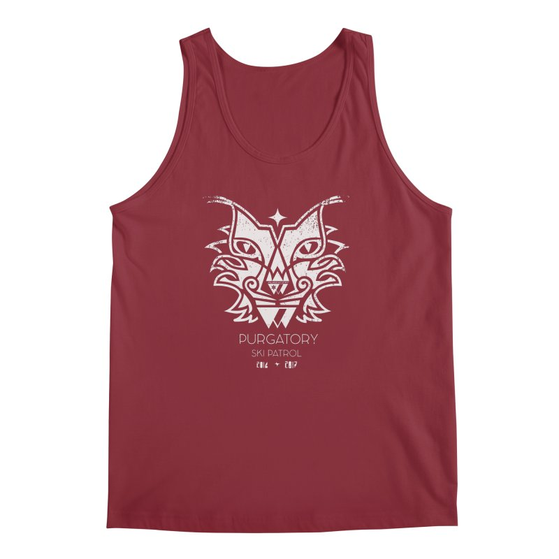 white Lynx Purgatory Patrol Men's Tank by lauriecullumdesign's Artist Shop