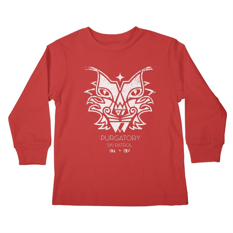 white Lynx Purgatory Patrol Kids Longsleeve T-Shirt by lauriecullumdesign's Artist Shop