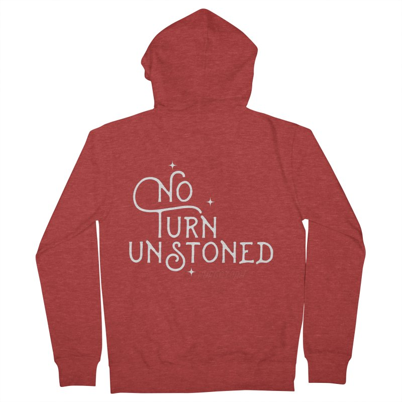 No Turn Unstoned Men's Zip-Up Hoody by lauriecullumdesign's Artist Shop
