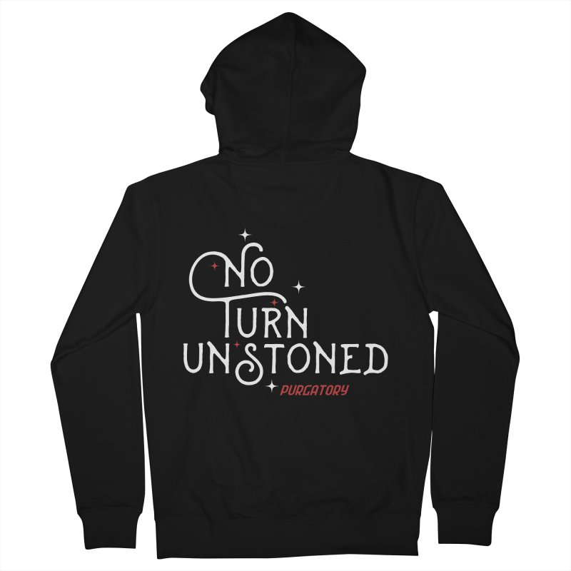 No Turn Unstoned Men's Zip-Up Hoody by lauriecullumdesign's Artist Shop