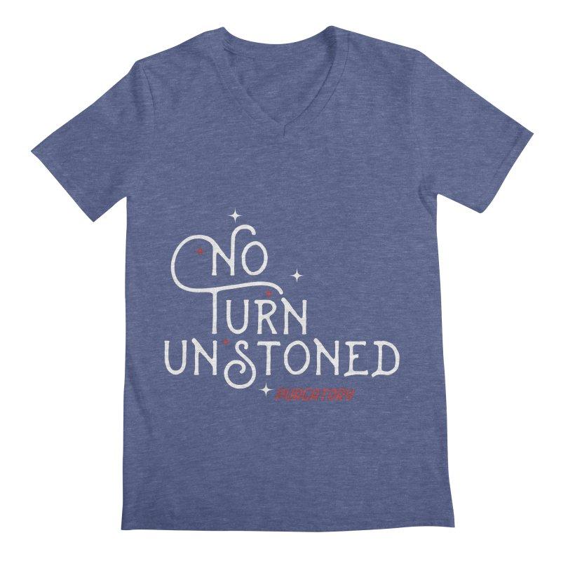 No Turn Unstoned Men's V-Neck by lauriecullumdesign's Artist Shop
