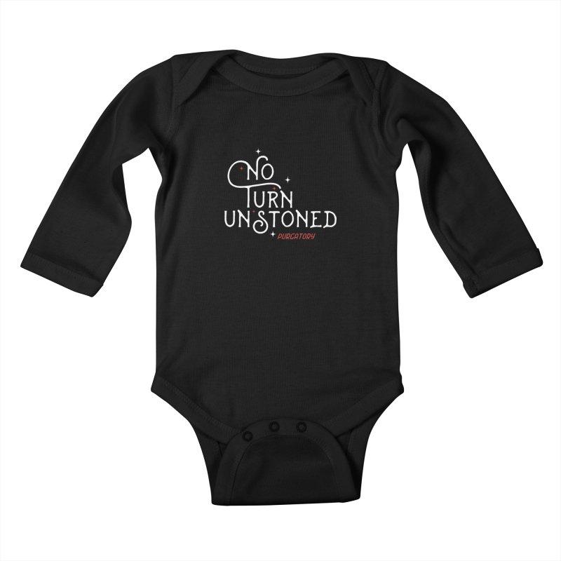 No Turn Unstoned Kids Baby Longsleeve Bodysuit by lauriecullumdesign's Artist Shop