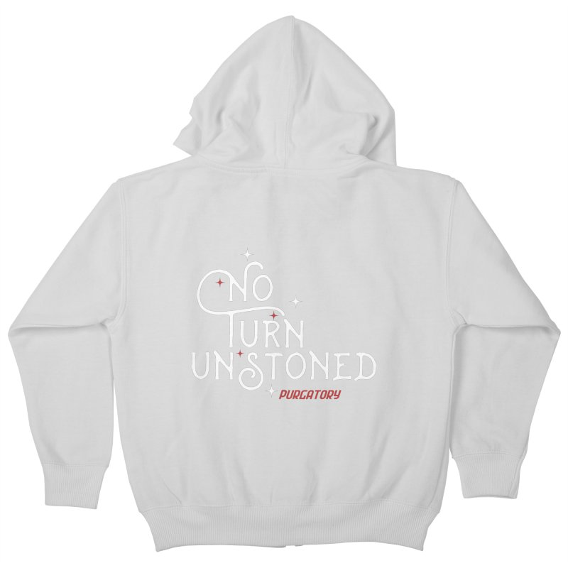 No Turn Unstoned Kids Zip-Up Hoody by lauriecullumdesign's Artist Shop