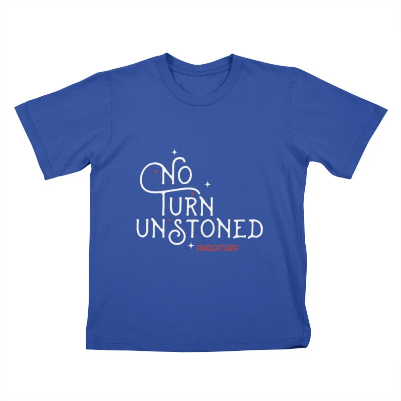 No Turn Unstoned Kids T-shirt by lauriecullumdesign's Artist Shop