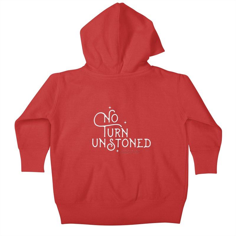 No Turn Unstoned Kids Baby Zip-Up Hoody by lauriecullumdesign's Artist Shop