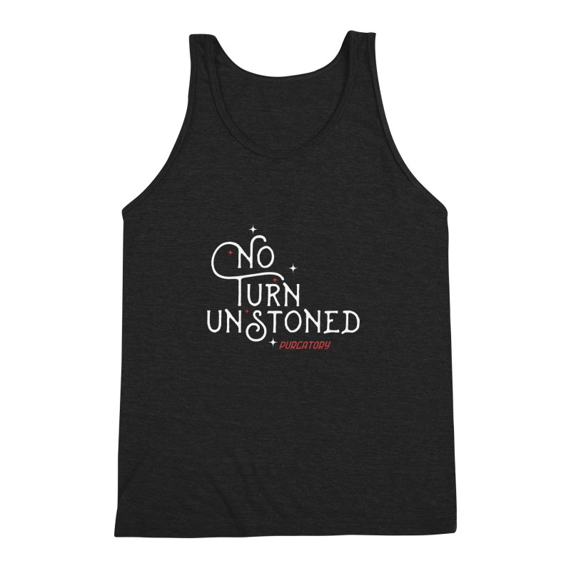 No Turn Unstoned Men's Triblend Tank by lauriecullumdesign's Artist Shop