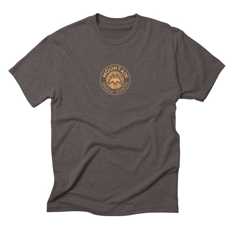 Mountain Middle School Men's Triblend T-Shirt by lauriecullumdesign's Artist Shop