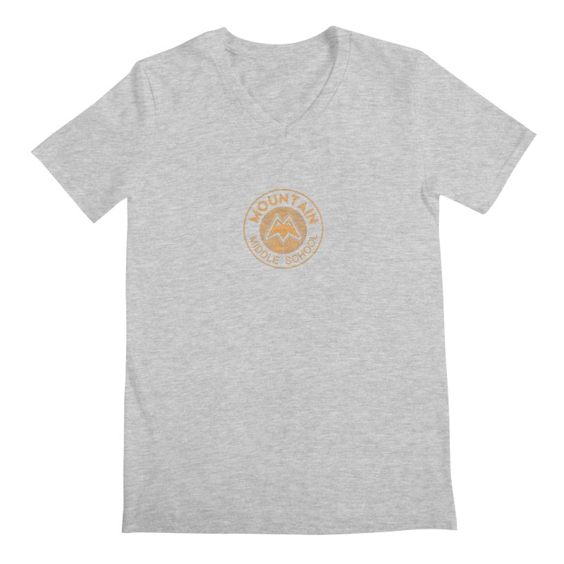 Mountain Middle School Men's V-Neck by lauriecullumdesign's Artist Shop