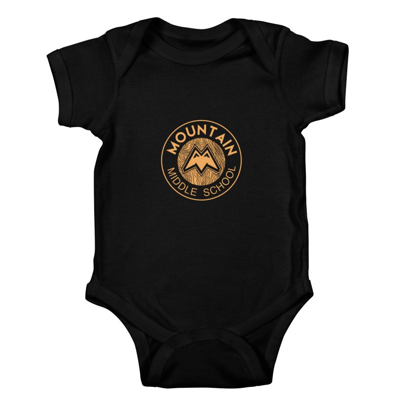 Mountain Middle School Kids Baby Bodysuit by lauriecullumdesign's Artist Shop