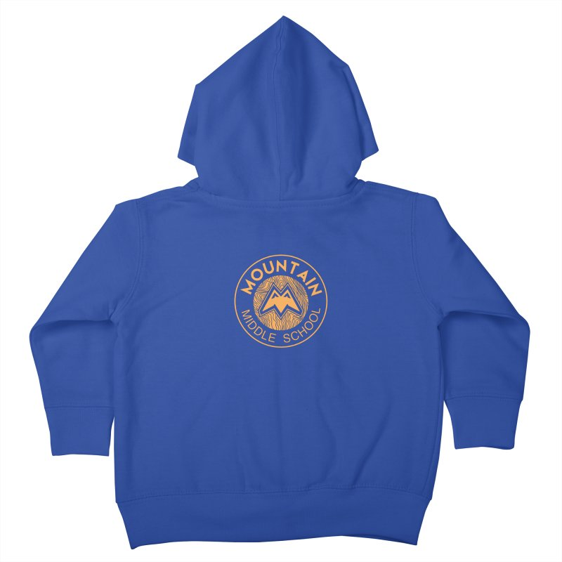 Mountain Middle School Kids Toddler Zip-Up Hoody by lauriecullumdesign's Artist Shop