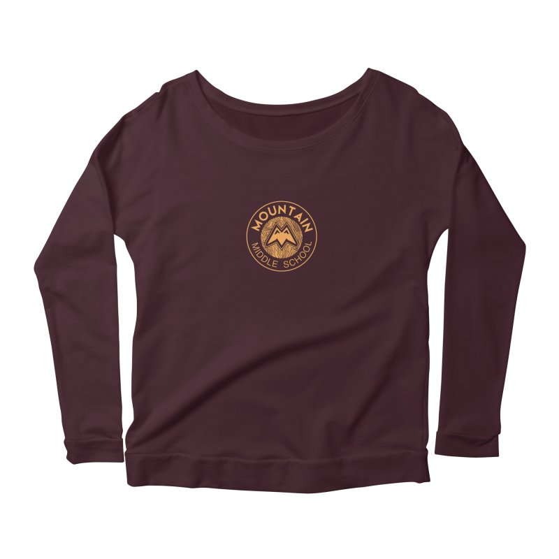 Mountain Middle School Women's Scoop Neck Longsleeve T-Shirt by lauriecullumdesign's Artist Shop