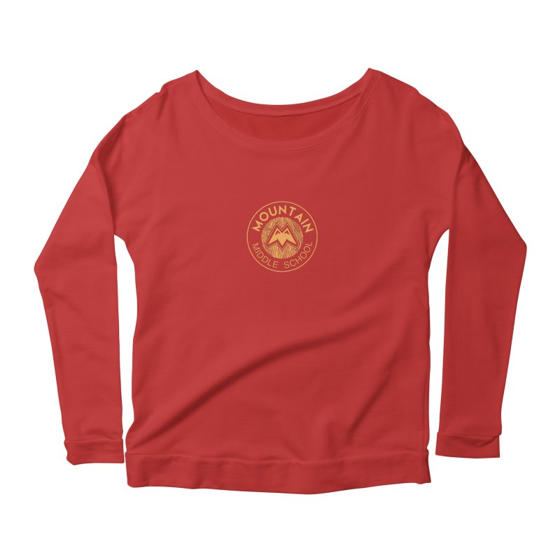 Mountain Middle School Women's Longsleeve Scoopneck  by lauriecullumdesign's Artist Shop