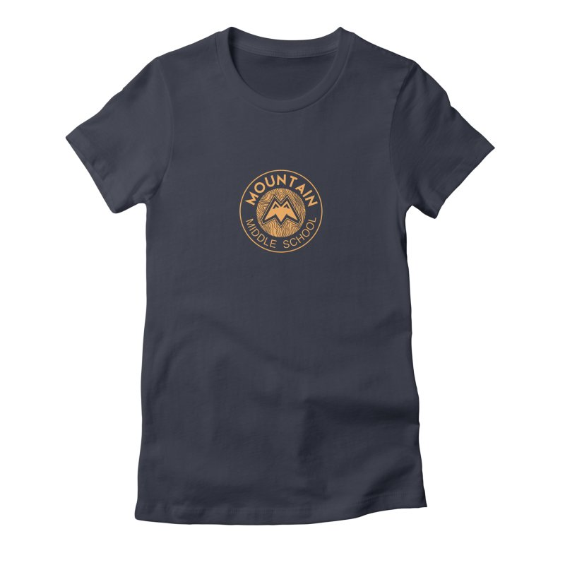 Mountain Middle School Women's Fitted T-Shirt by lauriecullumdesign's Artist Shop