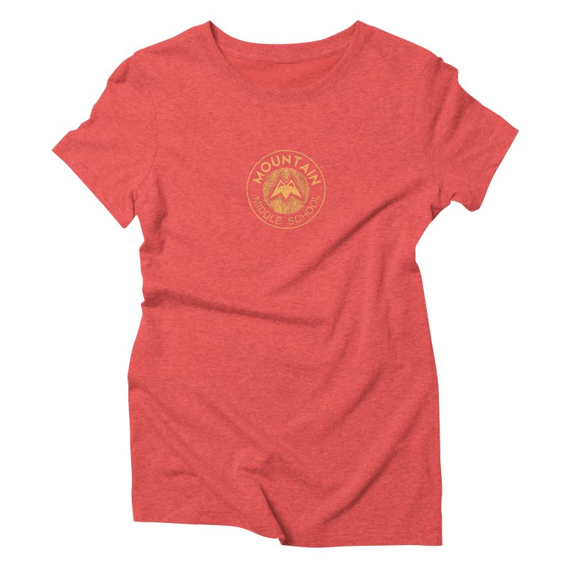 Mountain Middle School Women's Triblend T-Shirt by lauriecullumdesign's Artist Shop