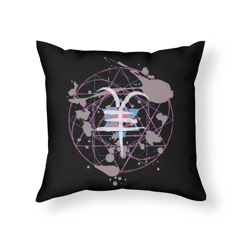 Year of the Goat (III) Home Throw Pillow by Lava Bat's Artist Shop