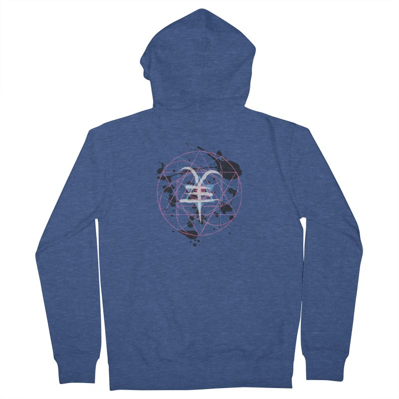 Year of the Goat (II) Men's Zip-Up Hoody by Lava Bat's Artist Shop