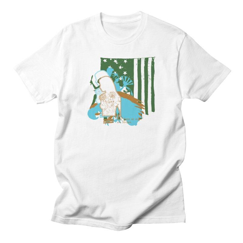 Stripes & Stamens Men's T-Shirt by Lava Bat's Artist Shop