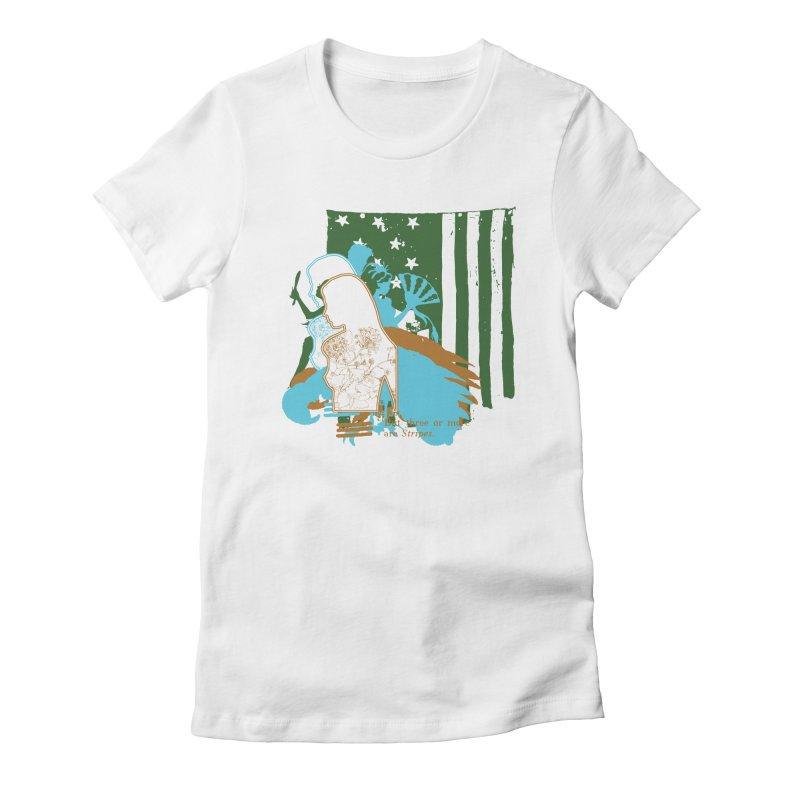 Stripes & Stamens Women's T-Shirt by Lava Bat's Artist Shop