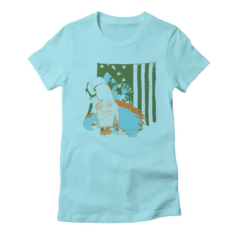 Stripes & Stamens Women's T-Shirt by Lava Bat's Artist Shop