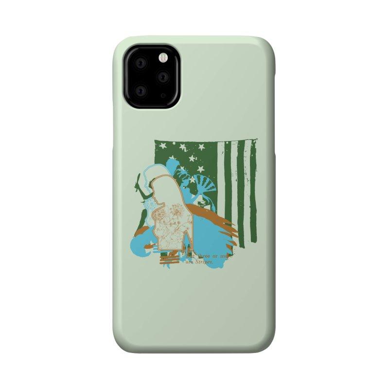 Stripes & Stamens Accessories Phone Case by Lava Bat's Artist Shop