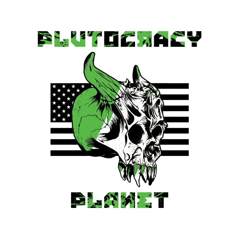 Plutocracy Planet (II) Men's V-Neck by Lava Bat's Artist Shop