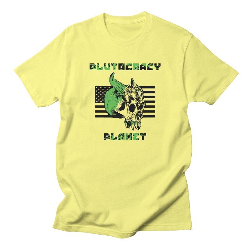 Plutocracy Planet (II) Men's T-Shirt by Lava Bat's Artist Shop
